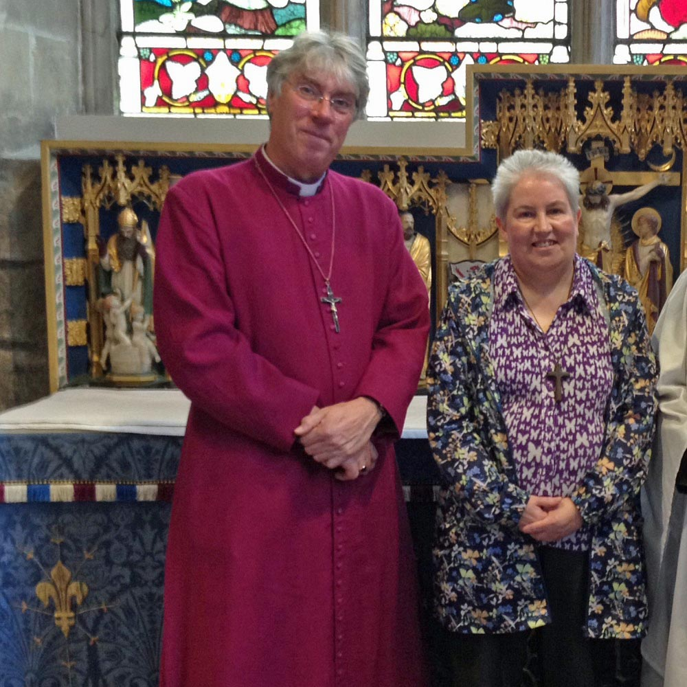 Jackie and Bishop Tim, Assistant Bishop in the Diocese of Sheffield