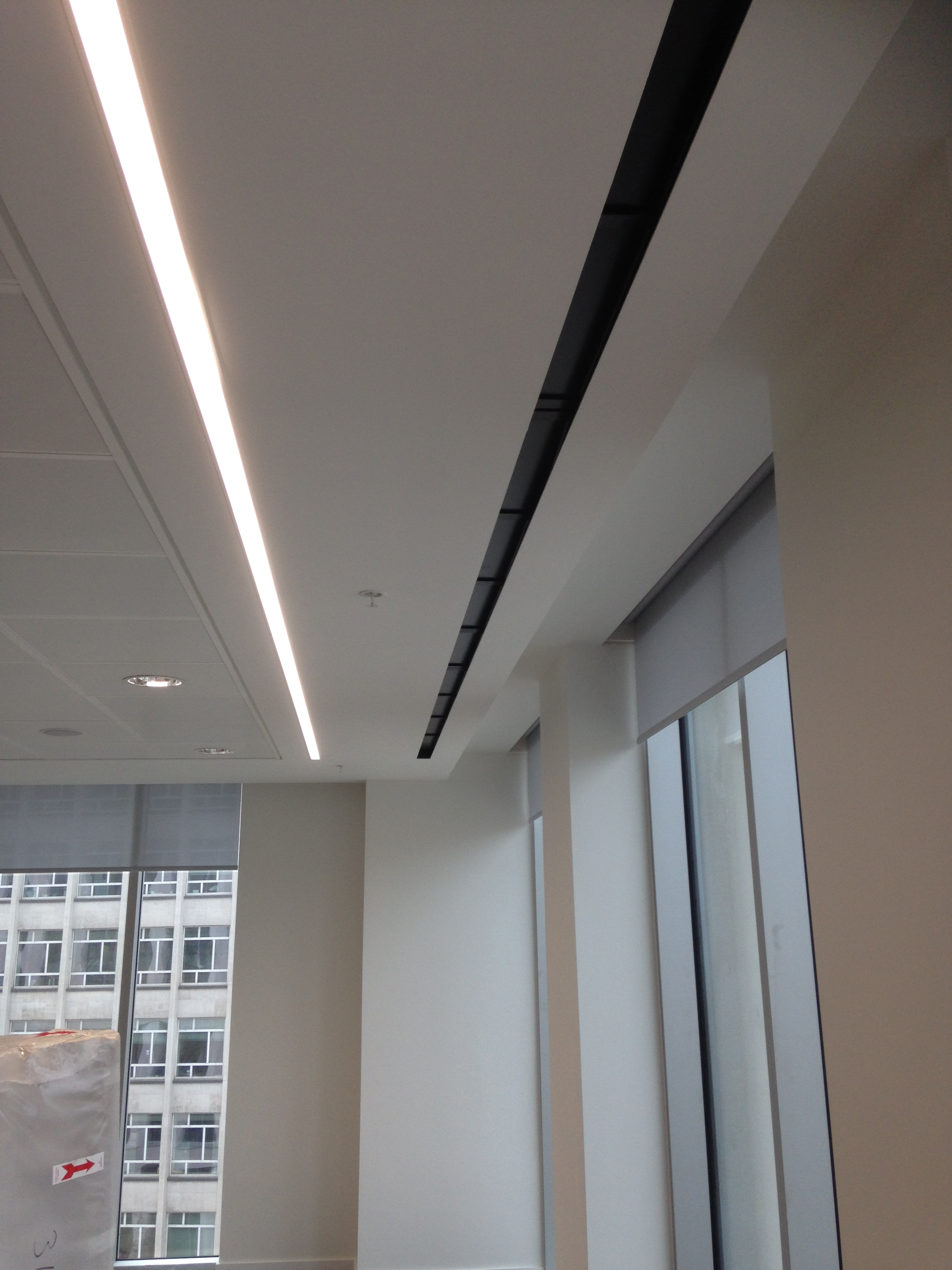 Attractive and quiet diffusers used in new office space