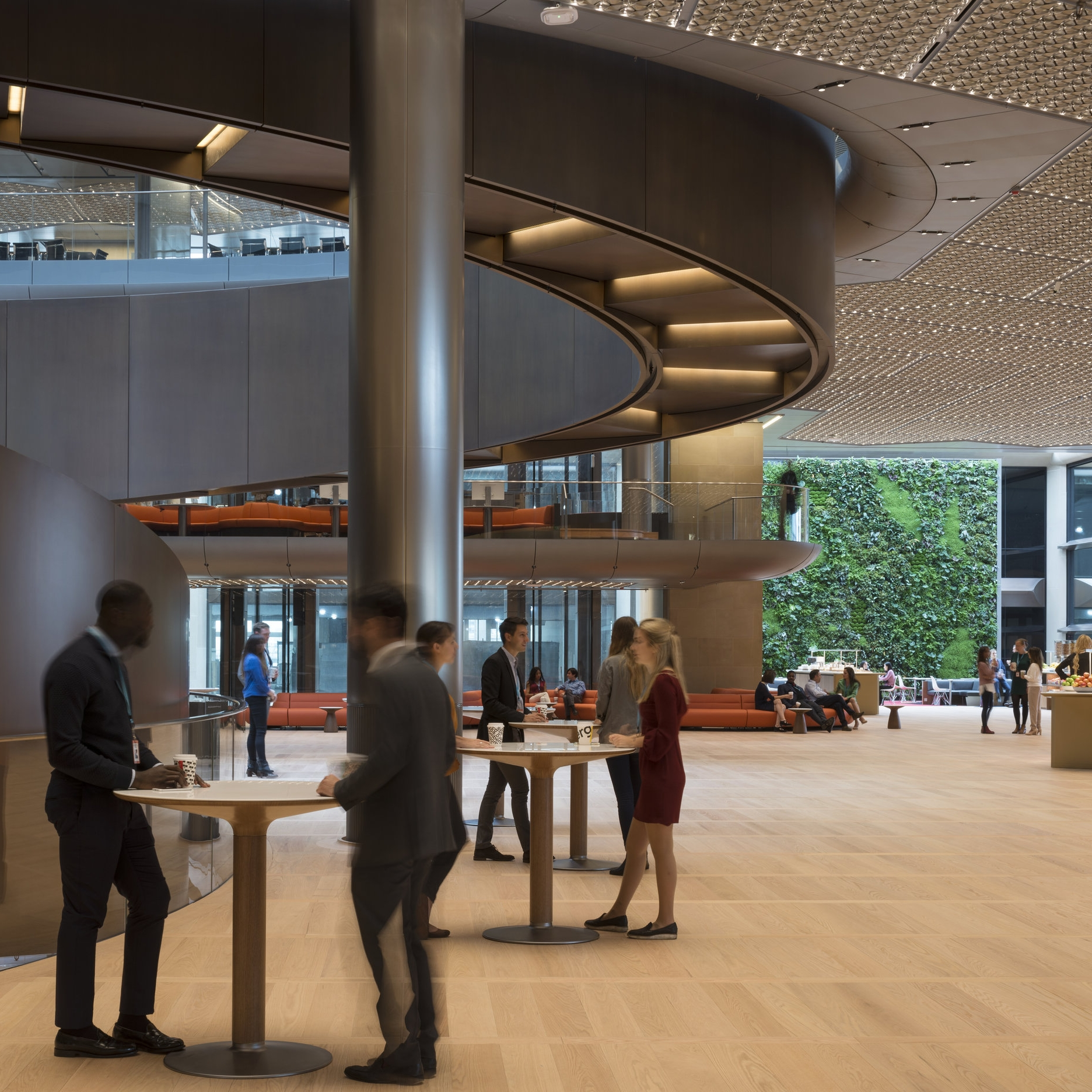 Bloomberg, London   A bespoke design of FlowBar was specified for the new European Bloomberg HQ in London, adapted to fit a special application to run inside the ceiling lighting channels of the foyer.   Find out other ways Swegon was involved in the project...