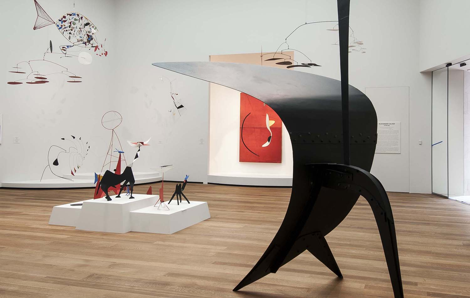 A top-floor gallery was built into one of I.M. Pei's tower spaces, making room for a large display of works by Alexander Calder. Bill O'Leary/The Washington Post)