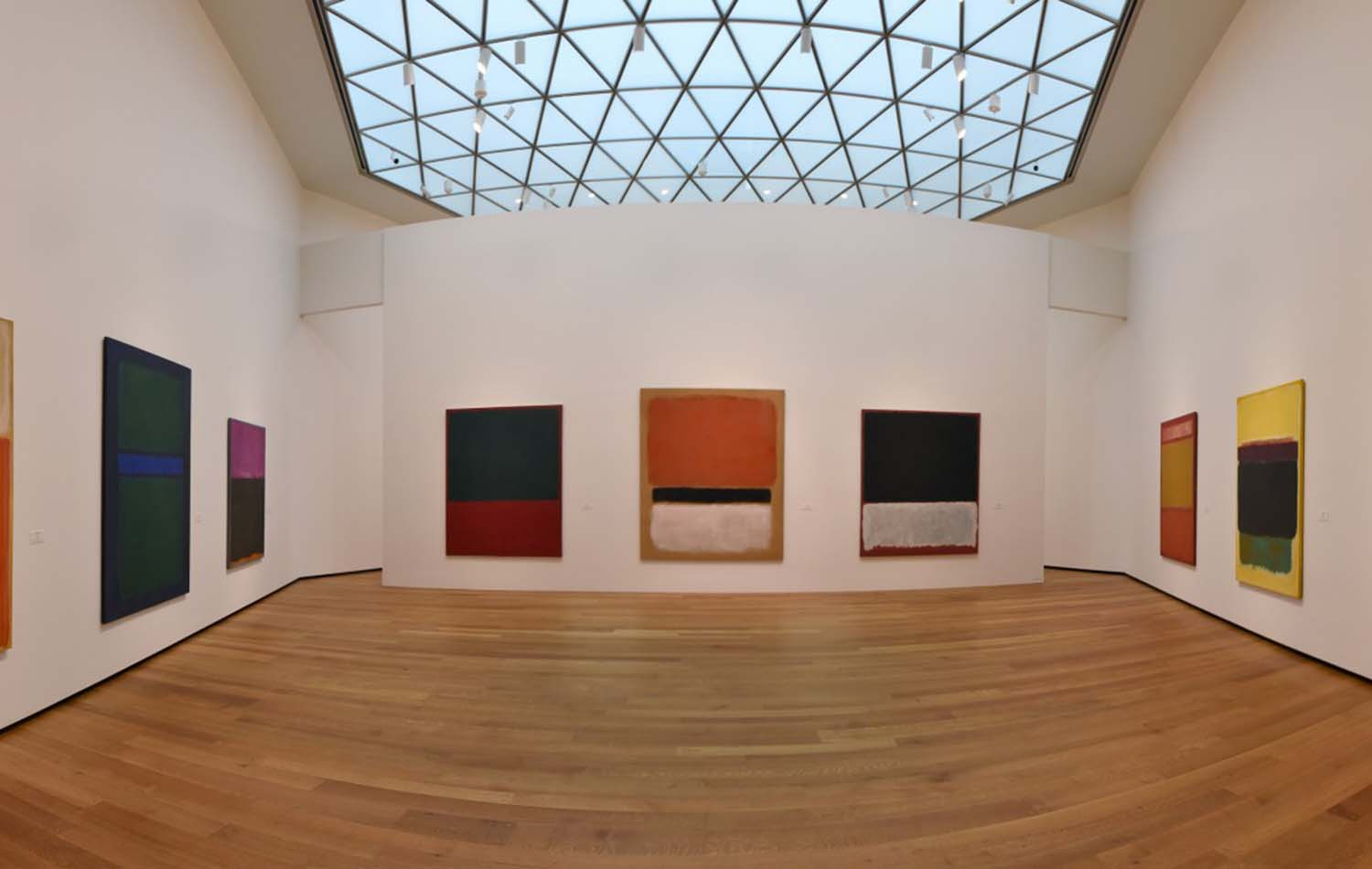 A collection of Mark Rothko works is located atop tower one. (Bill O'Leary/The Washington Post)