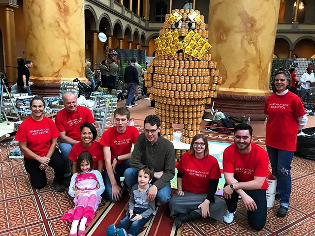 Another successful year of @canstruction building the #Lorax at the @nationalbuildingmuseum