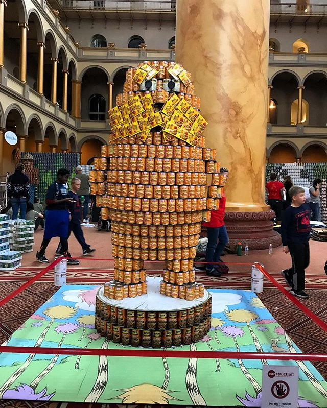 The Lorax, our @canstruction build supporting the @capitalareafoodbank