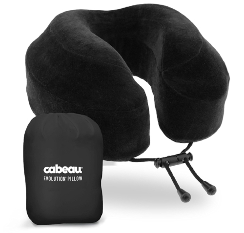 Memory Foam Travel Pillow    If you are traveling overseas, you must have pack an amazing travel pillow! The  Cabeau Evolution  one is AWARD-WINNING. The patented memory foam design of this pillow adjusts for 360 degree support and completely supports your neck without the usual awkward positioning, so you can lean your head in any direction and feel perfectly comfortable. Plus, the back is flat, which works great in airline seats. It's has a machine washable cover and comes with a compact storage bag that allows it to shrink to 1/4 of its size to fit nicely in your luggage.