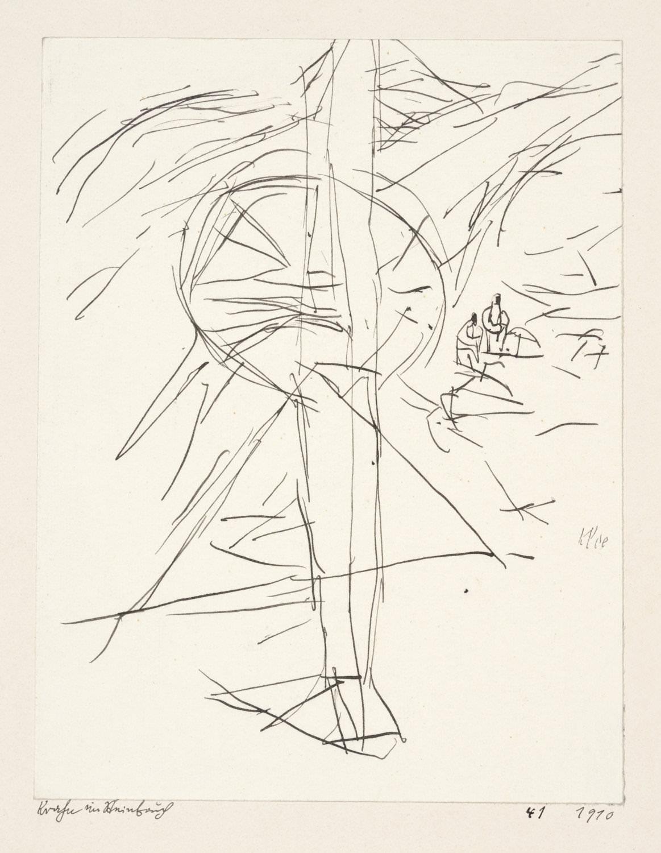 Paul Klee, Krahn im Steinbruch , 1910, 41,Feder auf Papier auf Karton,13,4 x 10,4 cm,Zentrum Paul Klee, Bern © Zentrum Paul Klee, Bern, Bildarchiv