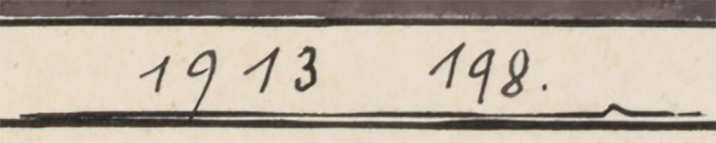Abb.17 a) Paul Klee, Schosshaldenholz (Studie), 1913, 198 (Ausschnitt von Abb. 15)