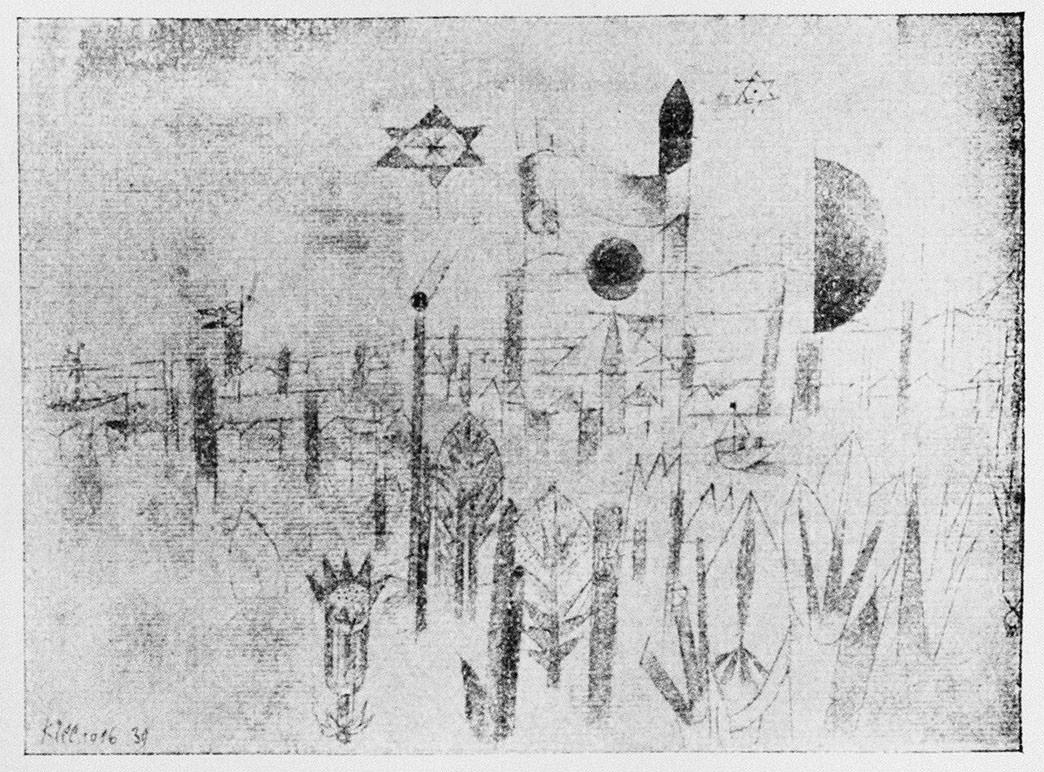 Abb.49 Paul Klee, Flusslandschaft, 1916, 39 , Feder und Aquarell auf Papier auf Karton , Standort unbekannt © Zentrum Paul Klee, Bern, Archiv