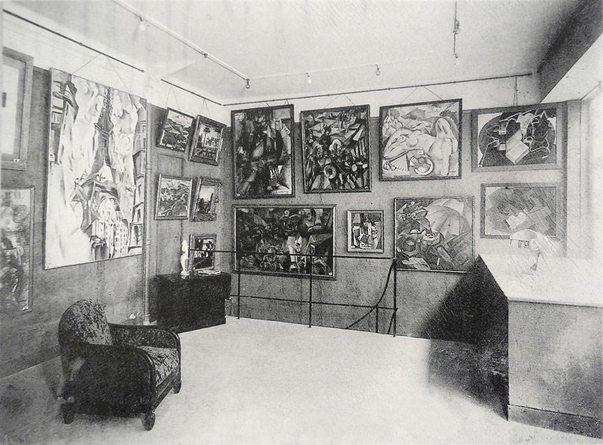 Abb. 4 Ausstellung »La Section d'Or« in der Galerie Vavin-Raspail, Januar 1925, Fotograf: unbekannt, in: Debray 2000, S. 37