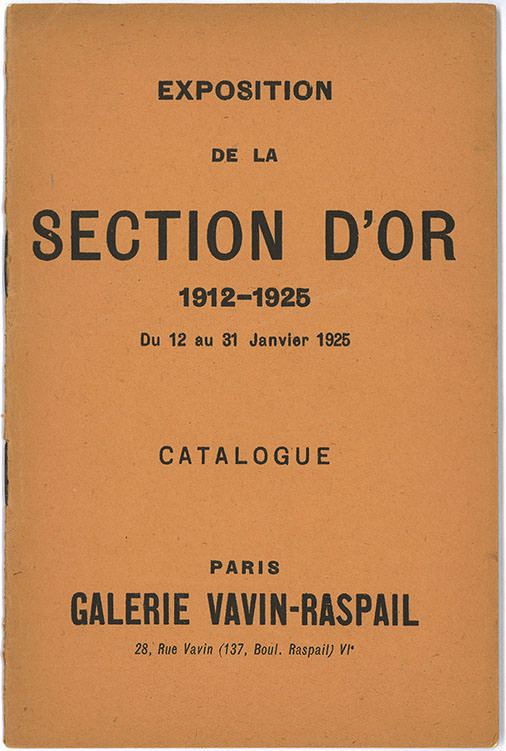 Abb. 5 Katalog »La Section d'Or, 1912–1925«, Galerie Vavin-Raspail, 1925, Umschlag, Privatbesitz