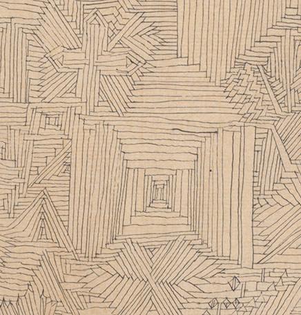 Abb.7 Paul Klee  ein Garten für Orpheus , 1926, 3 (Ausschnitt), Feder und Aquarell auf Papier auf Karton, 47 x 32/32,5 cm, Zentrum Paul Klee, Bern © Zentrum Paul Klee, Bern, Bildarchiv