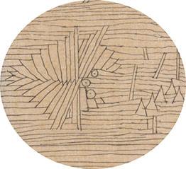 Abb.15 Paul Klee  ein Garten für Orpheus , 1926, 3 (Ausschnitt), Feder und Aquarell auf Papier auf Karton, 47 x 32/32,5 cm, Zentrum Paul Klee, Bern © Zentrum Paul Klee, Bern, Bildarchiv
