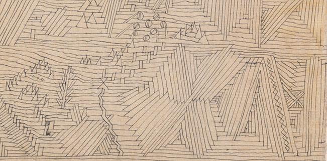 Abb. 9 Paul Klee  ein Garten für Orpheus , 1926, 3 (Ausschnitt), Feder und Aquarell auf Papier auf Karton, 47 x 32/32,5 cm, Zentrum Paul Klee, Bern © Zentrum Paul Klee, Bern, Bildarchiv