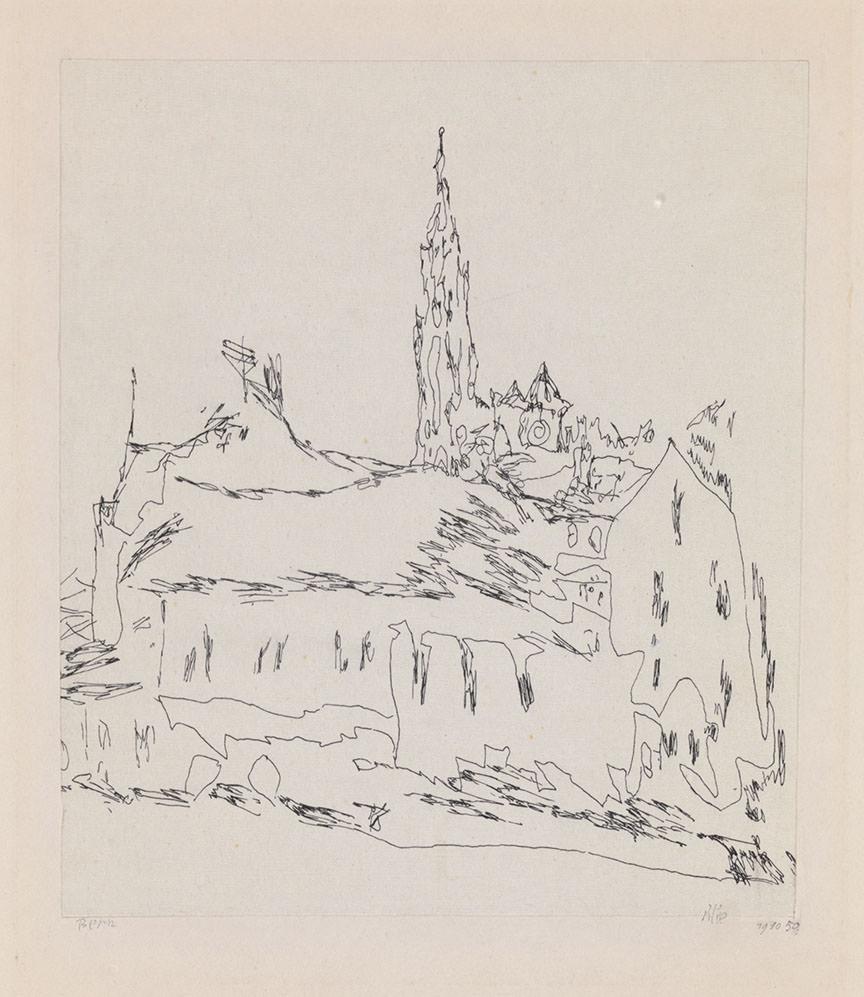 Abb.17 Paul Klee  Bern , 1910, 50, Feder auf Papier auf Karton, 17,3 x 15,1 cm, Zentrum Paul Klee, Bern, Schenkung Familie Klee © Zentrum Paul Klee, Bern, Bildarchiv