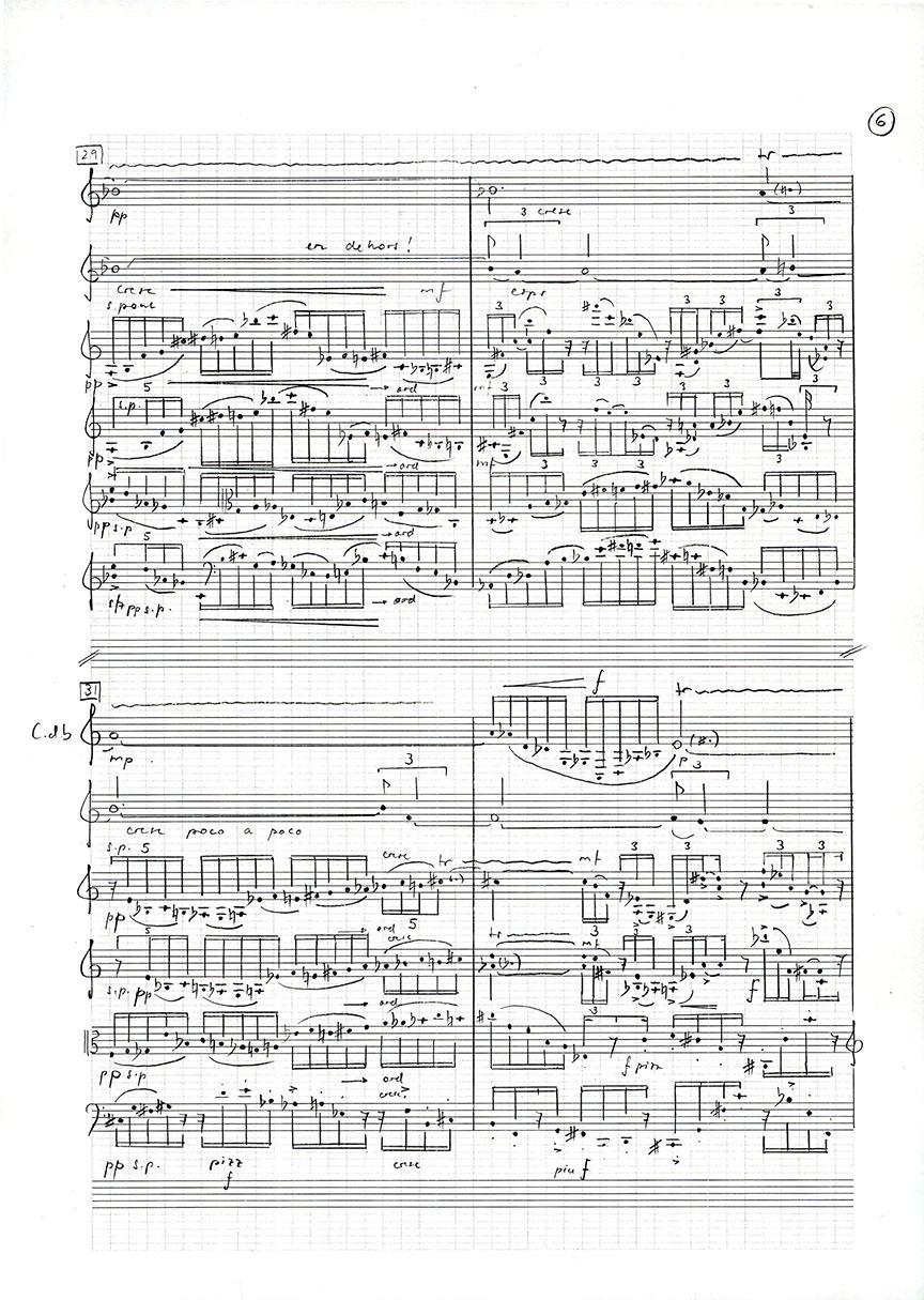Abb.14 Jean-Luc Darbellay  Ein Garten für Orpheus für Bassetthorn, Horn und Streichquartett , 1996 ©Jean-Luc Darbellay, Bern