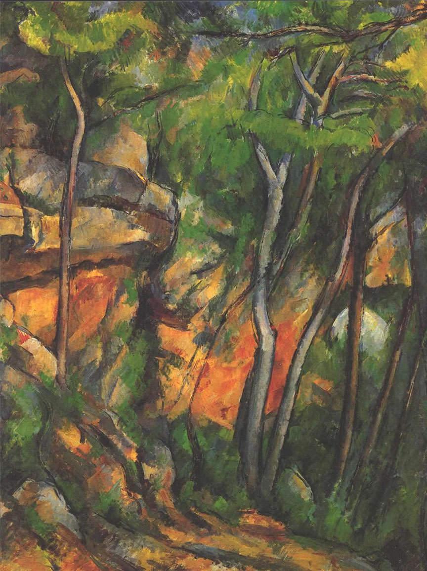 Abb.2 Paul Cézanne, Im Park des Château Noir, 1904, Öl auf Leinwand, 92 x73 cm, Privatbesitz ©Wikipedia, Public Domain