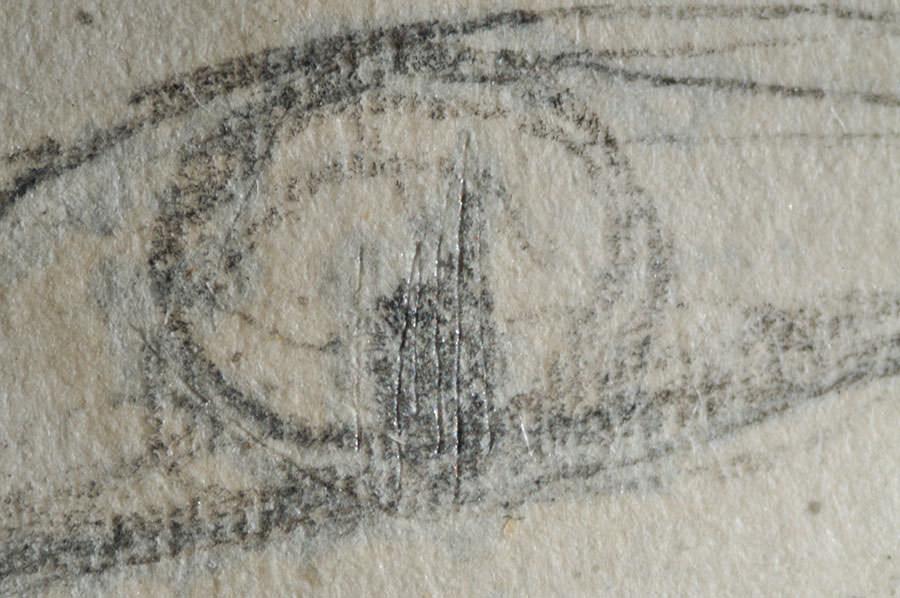 Abb.17 Linie der Nadel (Auge), Fotograf: Myriam Weber ©Zentrum Paul Klee, Bern, Archiv
