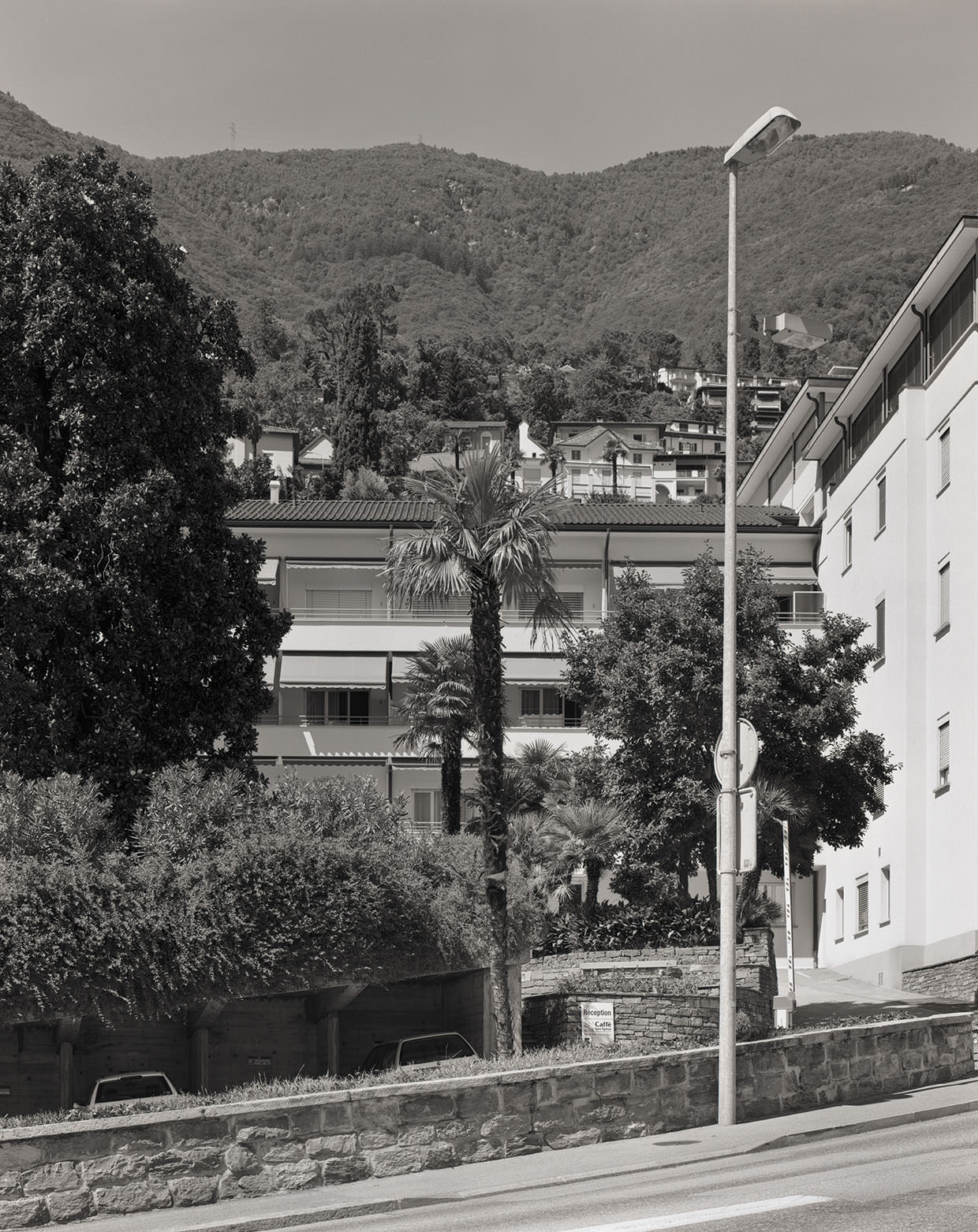 Klinik S. Agnese, Locarno-Muralto, aus Südwesten, 2005, Fotograf: Dominique Uldry ©Bern: Dominique Uldry