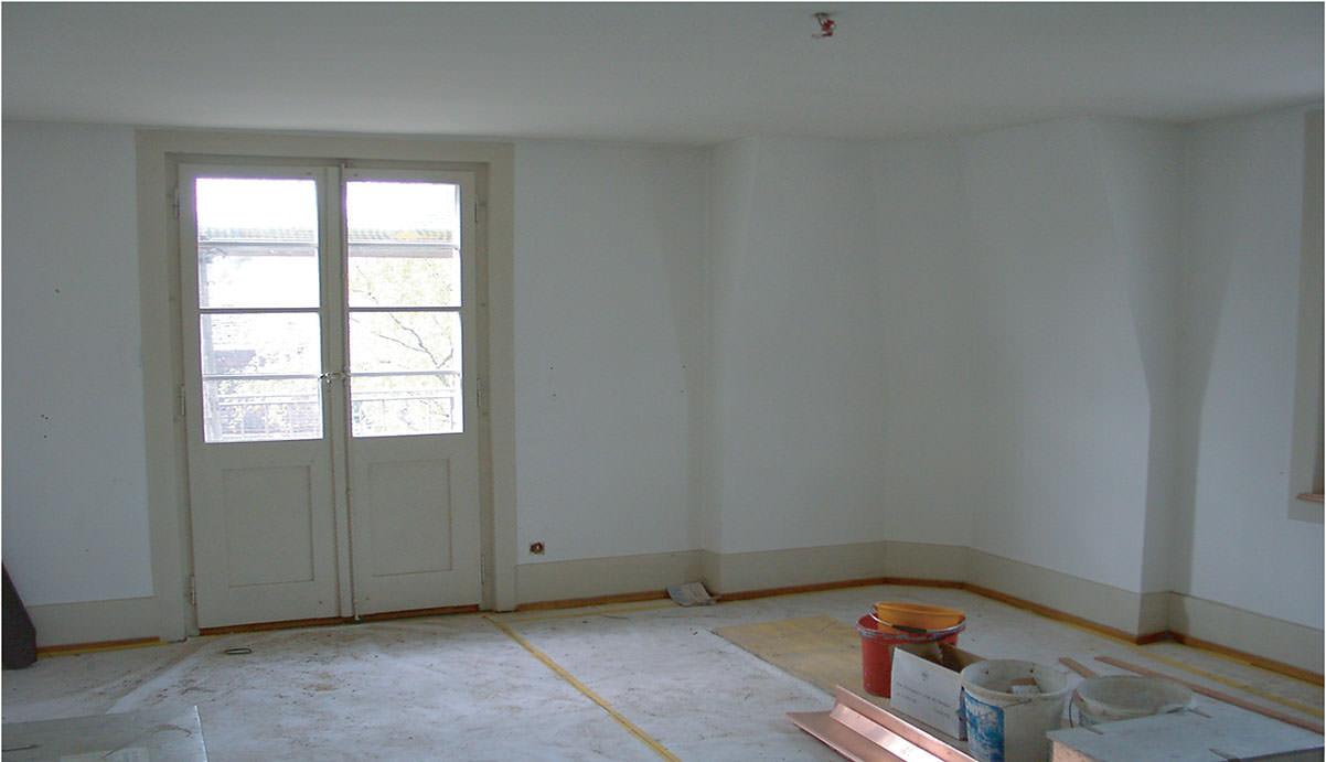 Abb. 3  Ehemaliger Atelierraum von Paul Klee am Kistlerweg 6 in Bern , 2005, Fotograf: Walther Fuchs ©Küsnacht: Privatbesitz
