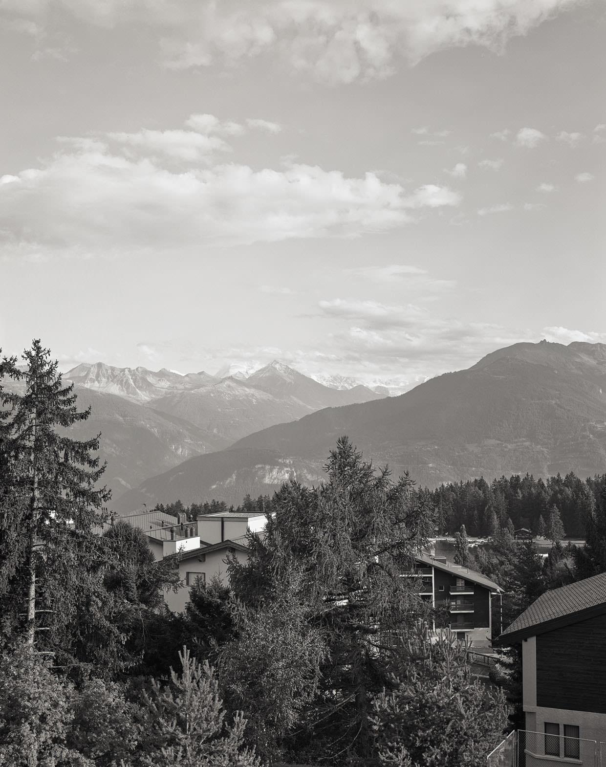 Abb. 8  Blick von Montana auf Sierre und das Val d'Annivier , 2005, Fotograf: Dominique Uldry ©Bern: Dominique Uldry