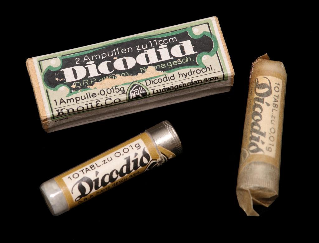 Abb. 6 A  Dicodid-Tabletten u. Ampullen Knoll, 1930er Jahre. © Privatbesitz, Küsnacht