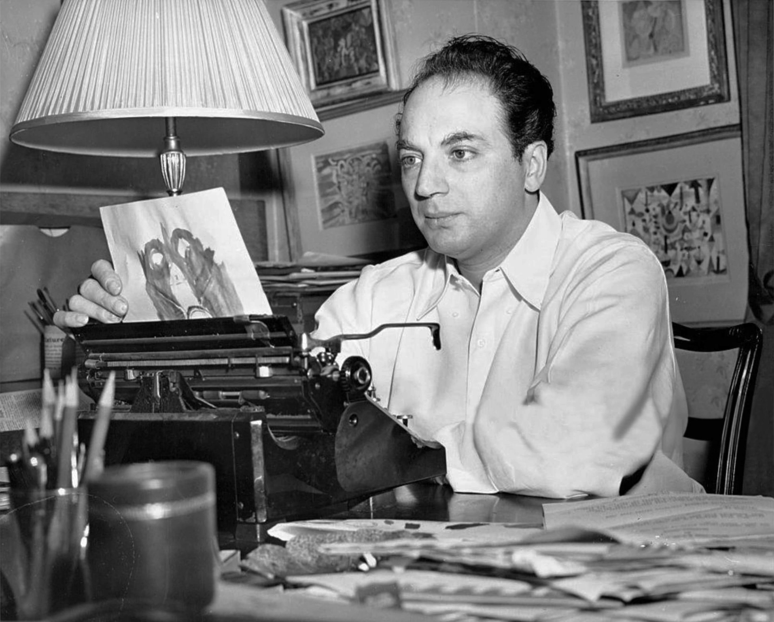 fig. 2 Clifford Odets. 1. August 1946, Photograph by Anthony Calvacca, New York Post, Photo Archives, ©Getty Images