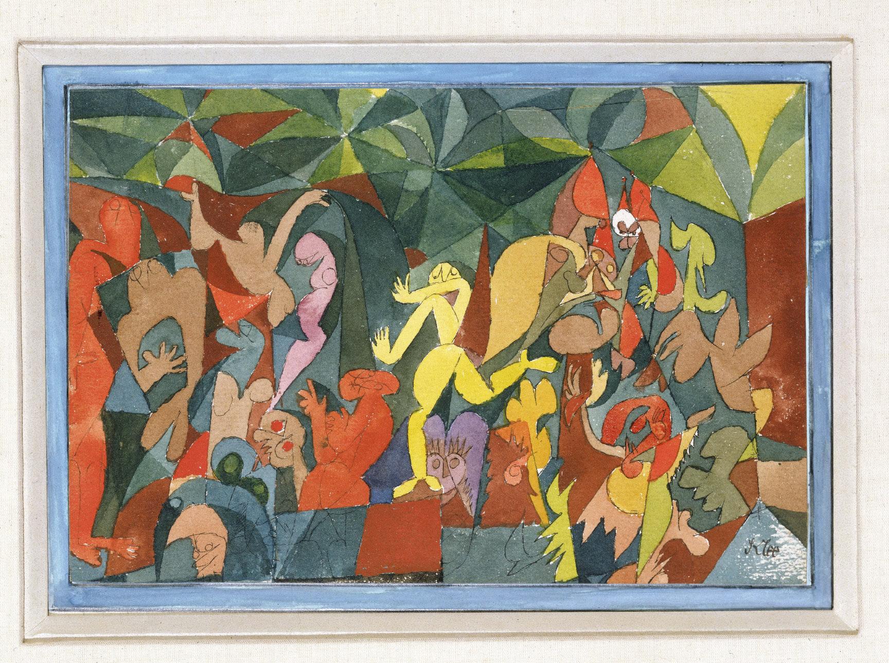 fig. 7 Paul Klee, bunte Menschen , state of 1989, Photo: unknown, ©Zentrum Paul Klee, Bern, Bildarchiv