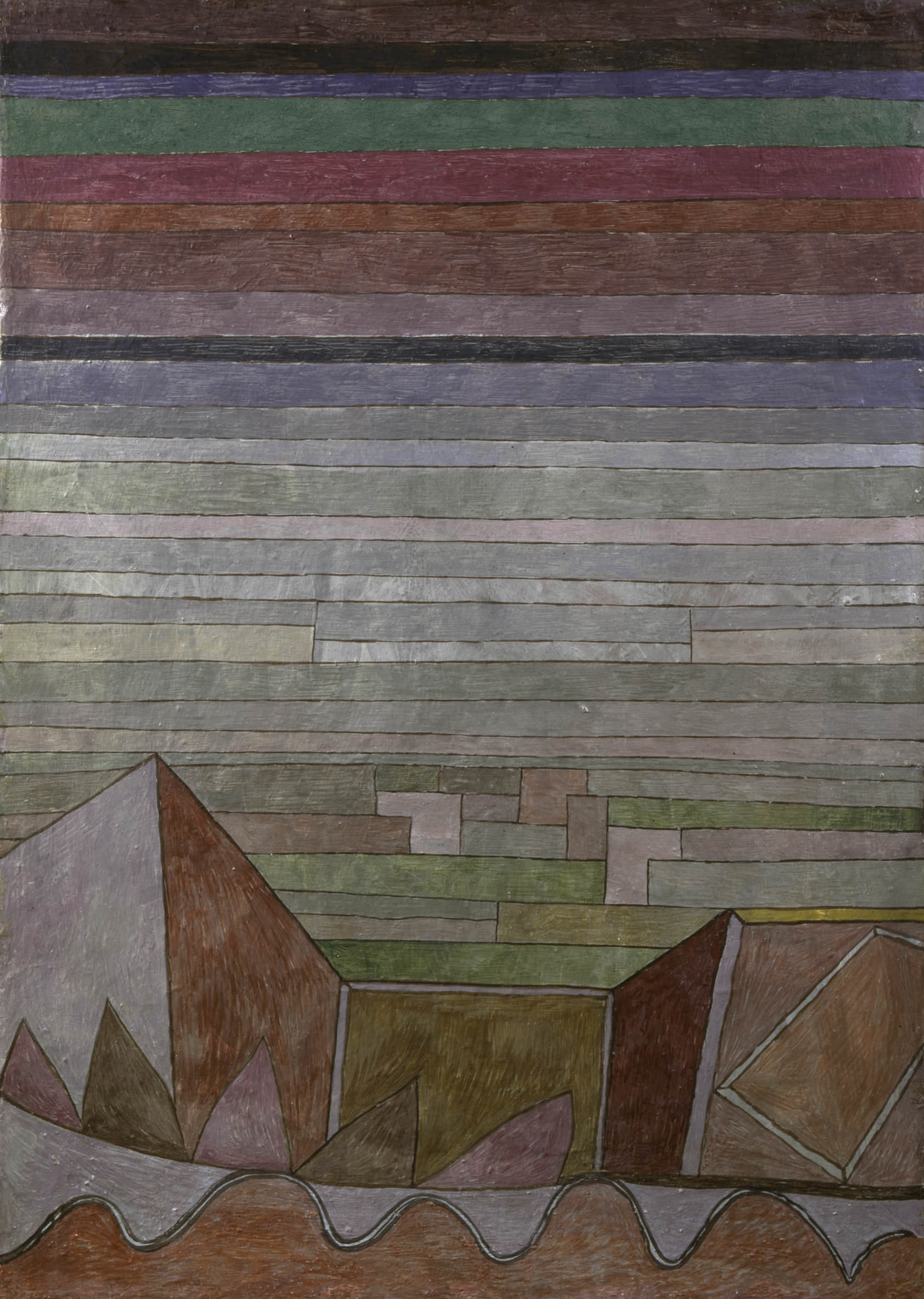 fig. 15 Paul Klee,  Blick in das Fruchtland  [View into the Fertile Country] , 1932, 189, oil on cardboard, 48,7 x 34,7 cm, © Städel Museum, Frankfurt am Main