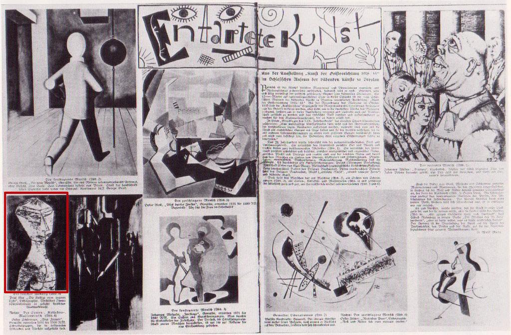 Abb. 10 Artikel zur Ausstellung »Kunst der Geistesrichtung 1918-1933« aus der Schlesischen Illustrierten Zeitung, Nr. 2/1934