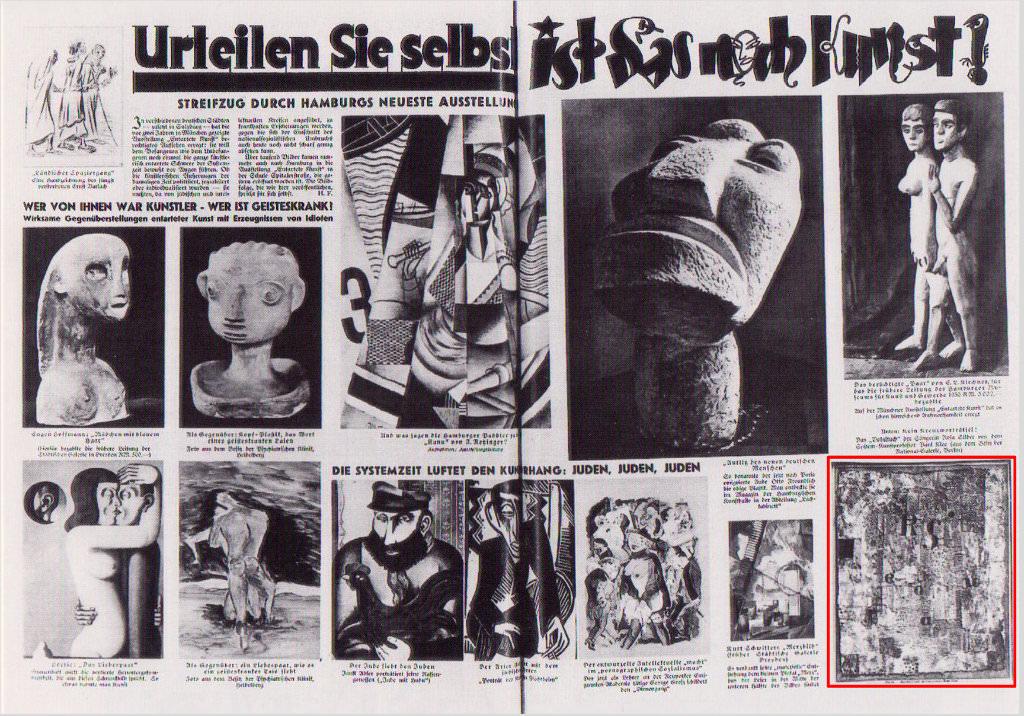 Abb. 20  Artikel zur Ausstellung »Entartete Kunst«, Hamburg 1938, aus dem Hamburger Tageblatt-Wochenschau vom 13. November 1938