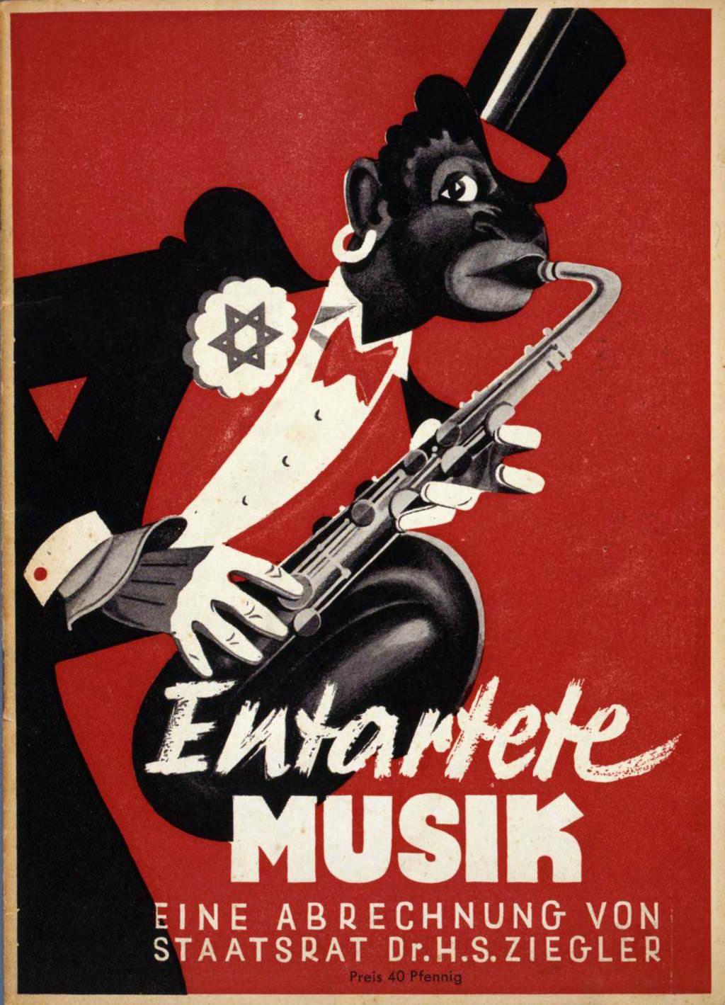 Abb. 21  Umschlag des Ausstellungsführers »Entartete Musik«