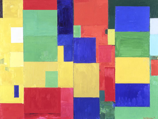 Abb. 3 Hans Hofmann,  Combinable Wall, I and II , 1961, Öl auf Leinwand, 214.6 x 285.7 cm, University of California, Berkeley Art Museum and Pacific Film Archive; Gift of Hans Hofmann, ©Artists Rights Society (ARS)