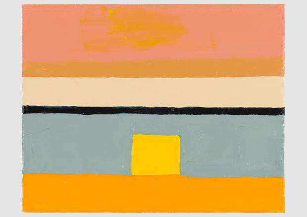 Etel Adnan, Adnan, Ohne Titel / Sans titre / Untitled, 2010, Öl auf Leinwand / Huile sur toile / Oil on canvas, 24 x 30 cm, Courtesy the artist and Sfeir-Semler Gallery, Hamburg / Beirut