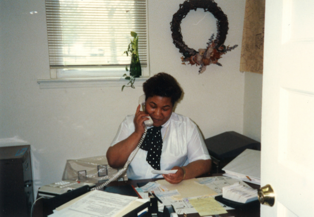 M  aude Hill In Homeport's first office on East Broad Street