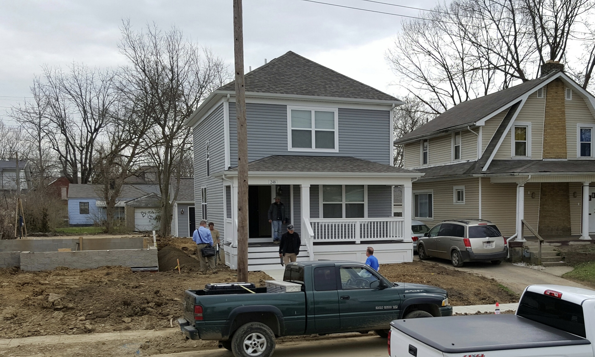 Construction so far involves the 'Elizabeth' model, pictured here on Wheatland Avenue.