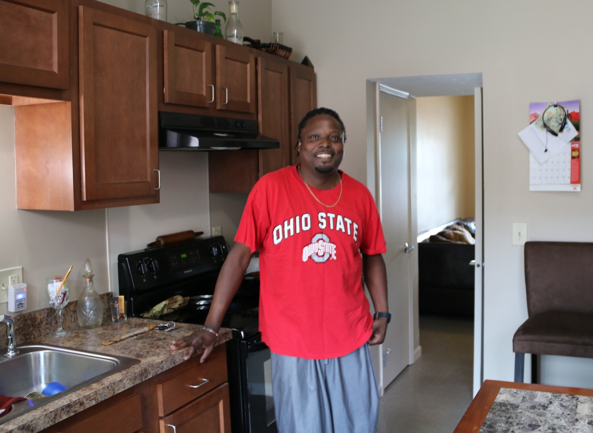 Orlan Wormley is enjoying his new kitchen