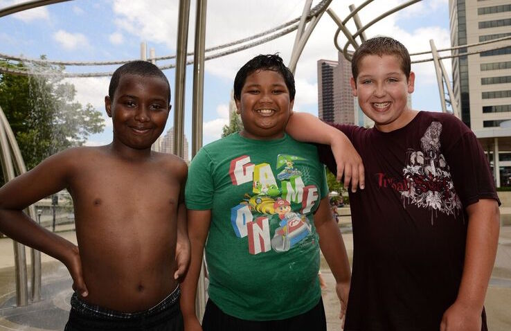 Children from Bending Brook enjoy an outing at Scioto Mile (Photo Courtesy OCCH)