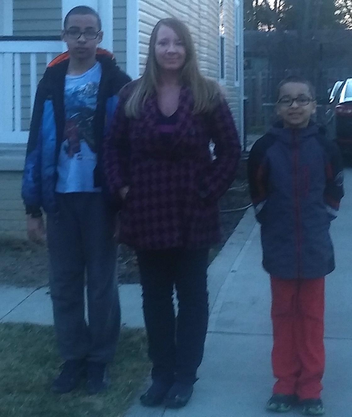 Sarah Dunlap and children