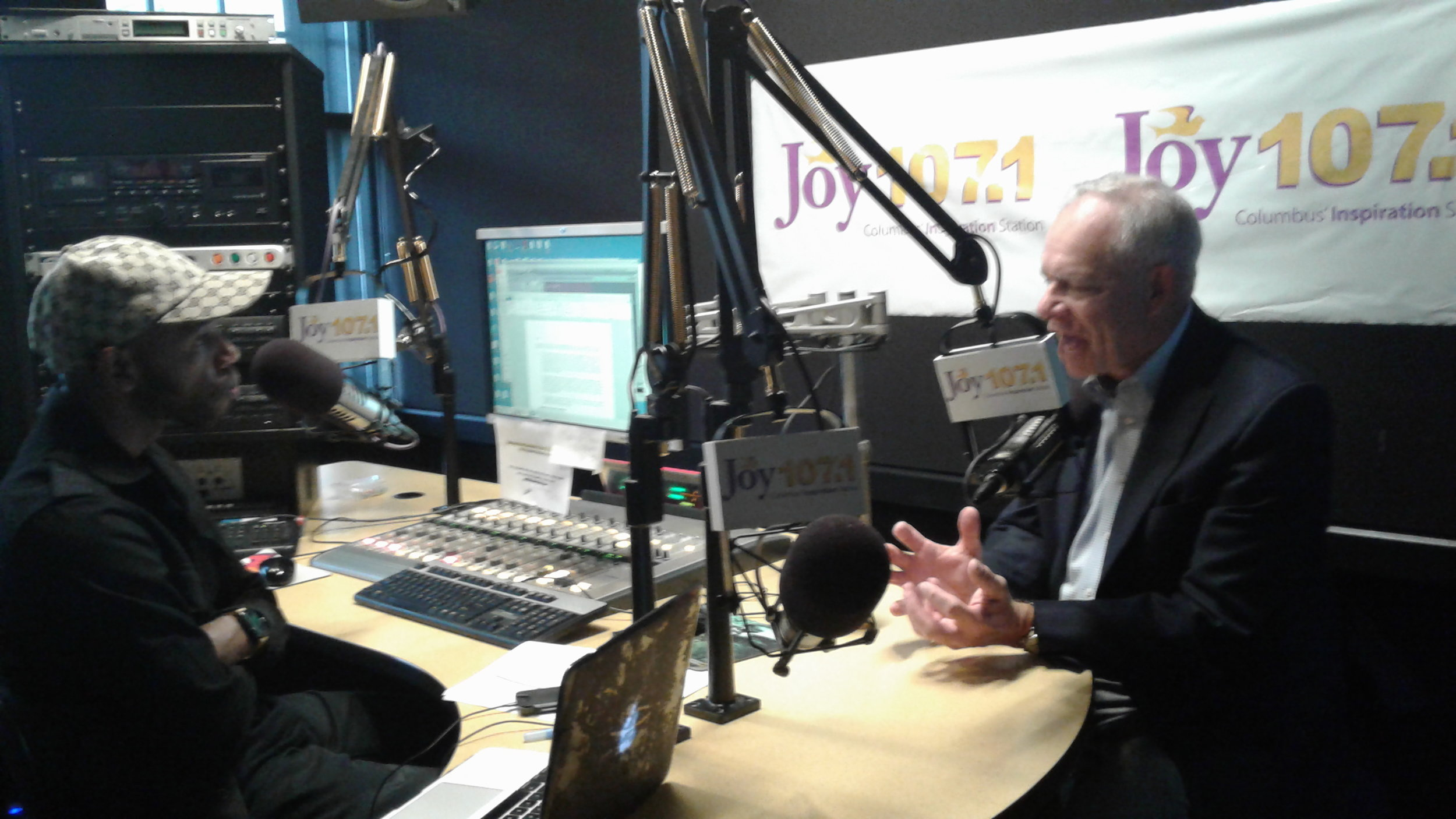Bruce Luecke meets with Eye on the Community host Yaves Ellis at Radio One Columbus studios.