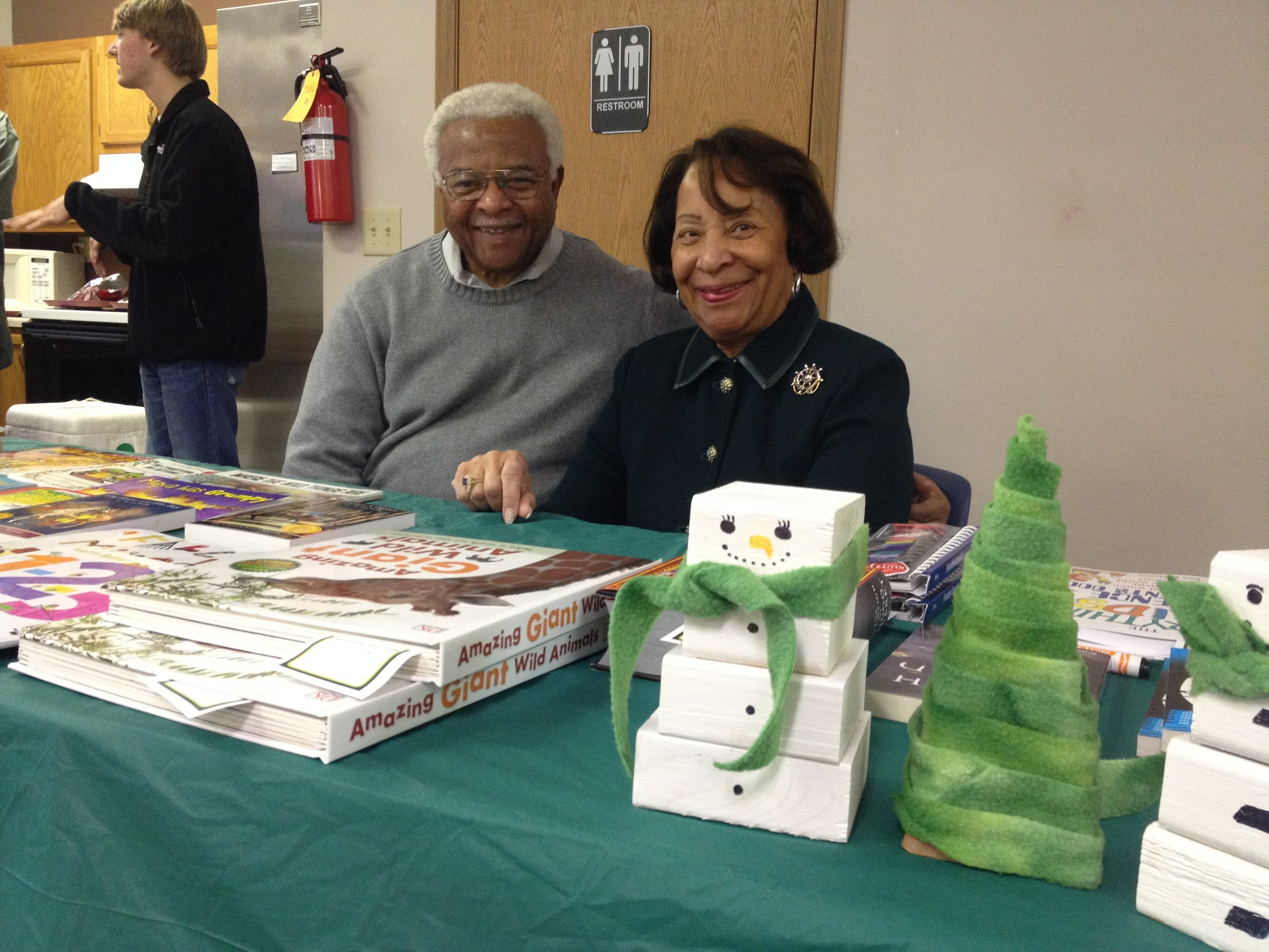 Hank Evans and Dorothy Cage Evans at Homeport event