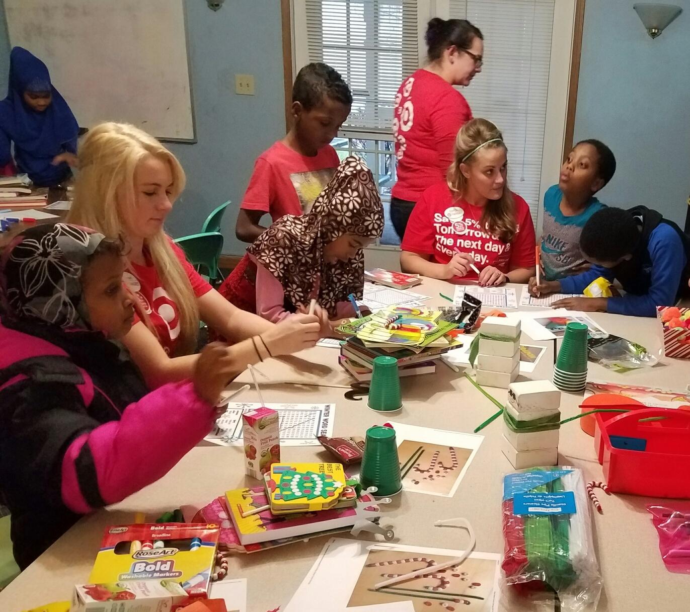 Target volunteers add to Book Fair festivities