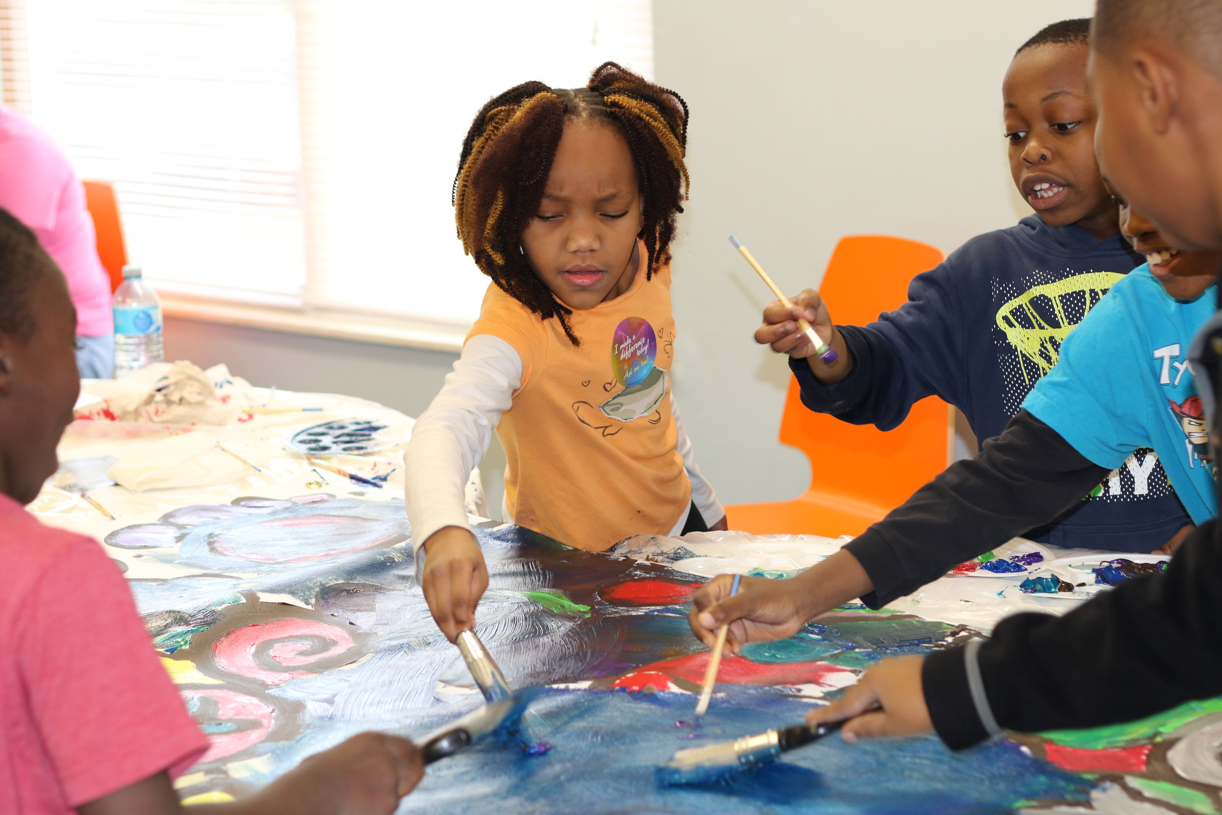 Georges Creek children painted murals as part of a celebration of Dr. Martin Luther King Jr.