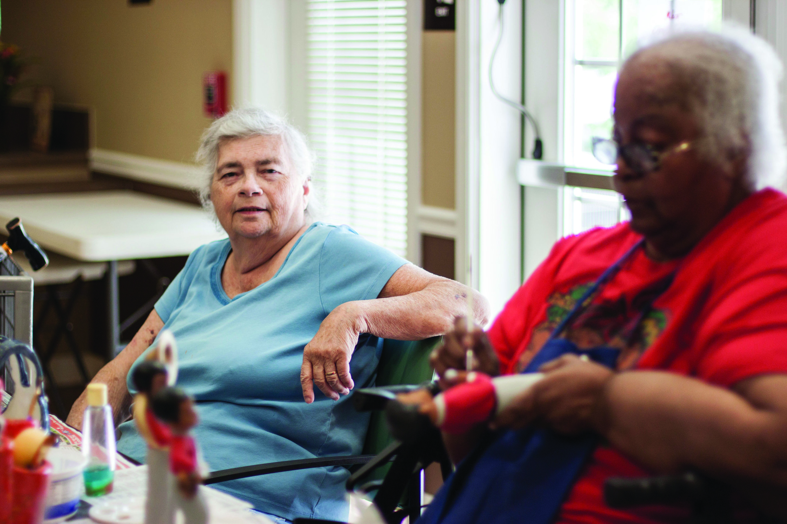 Residents of Homeport's Eastway Village in Whitehall