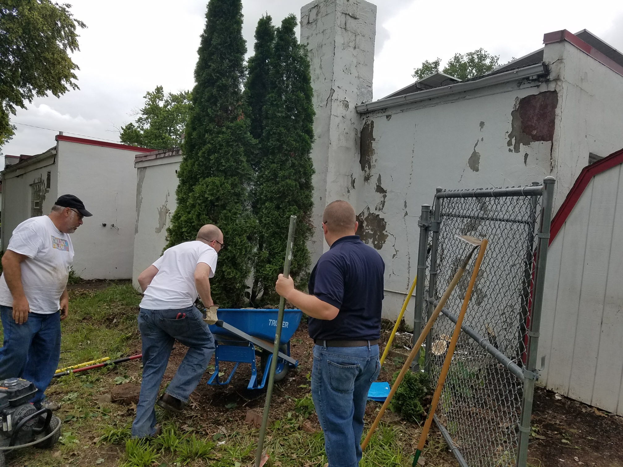 CCIIR members cleared nuisance trees as part of their cleanup efforts at American Addition.