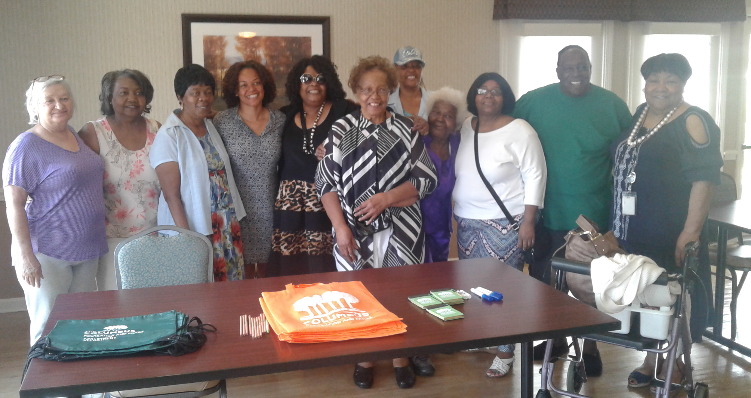 Columbus Council Member Jaiza Page, fourth from left. Homeport Senior VP Maude Hill is on far right.