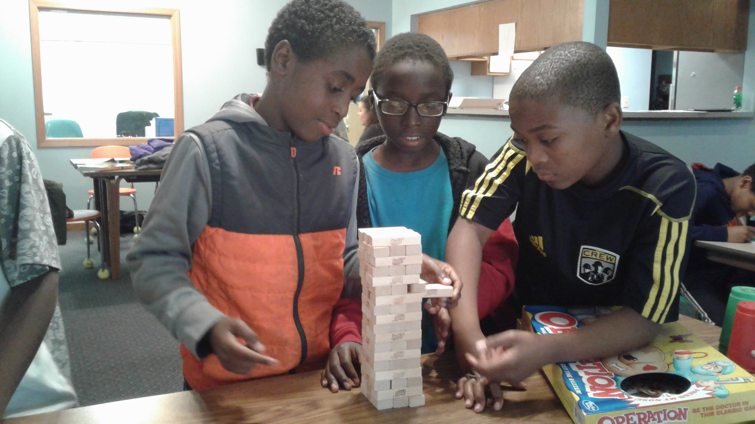 Emerald Glen children mix in games with learning after school.