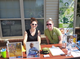 Homeport's Kyrie Dull and Cassie Reed provided program and services information.