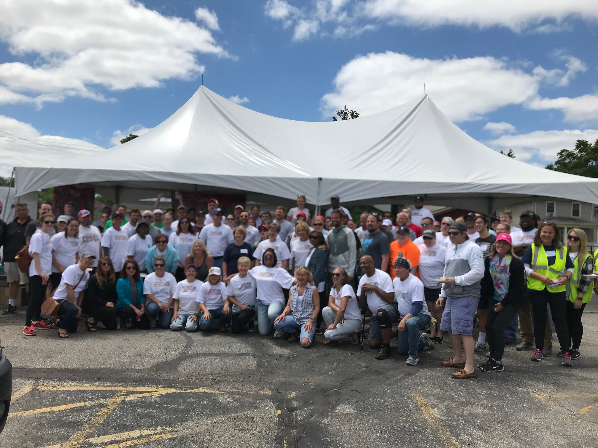 A big focus of Columbus REALTORS Realtor Care Day 2018 was the Milo-Grogan neighborhood, where members made improvements to 17 homes, one business and a community garden. Homeport recently built 33 affordable lease to purchase homes in Milo-Grogan as part of a revitalization initiative.