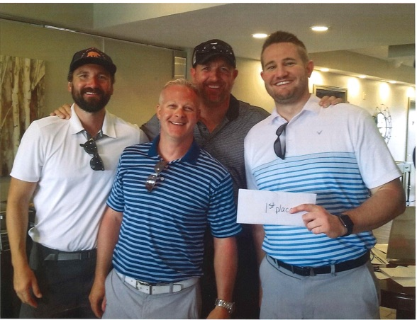 """Matt Gregory, Andy Dutcher, Philip Bird, and Brian Irwin posted a """"scramble"""" team score of 57 -- 15 under par -- to win the sixth annual charity golf tournament for Homeport organized by Columbus Commercial Industrial Investment Realtors (CCIIR). Held at Cumberland Trail Golf Club, the July 26 event drew close to 100 participants."""