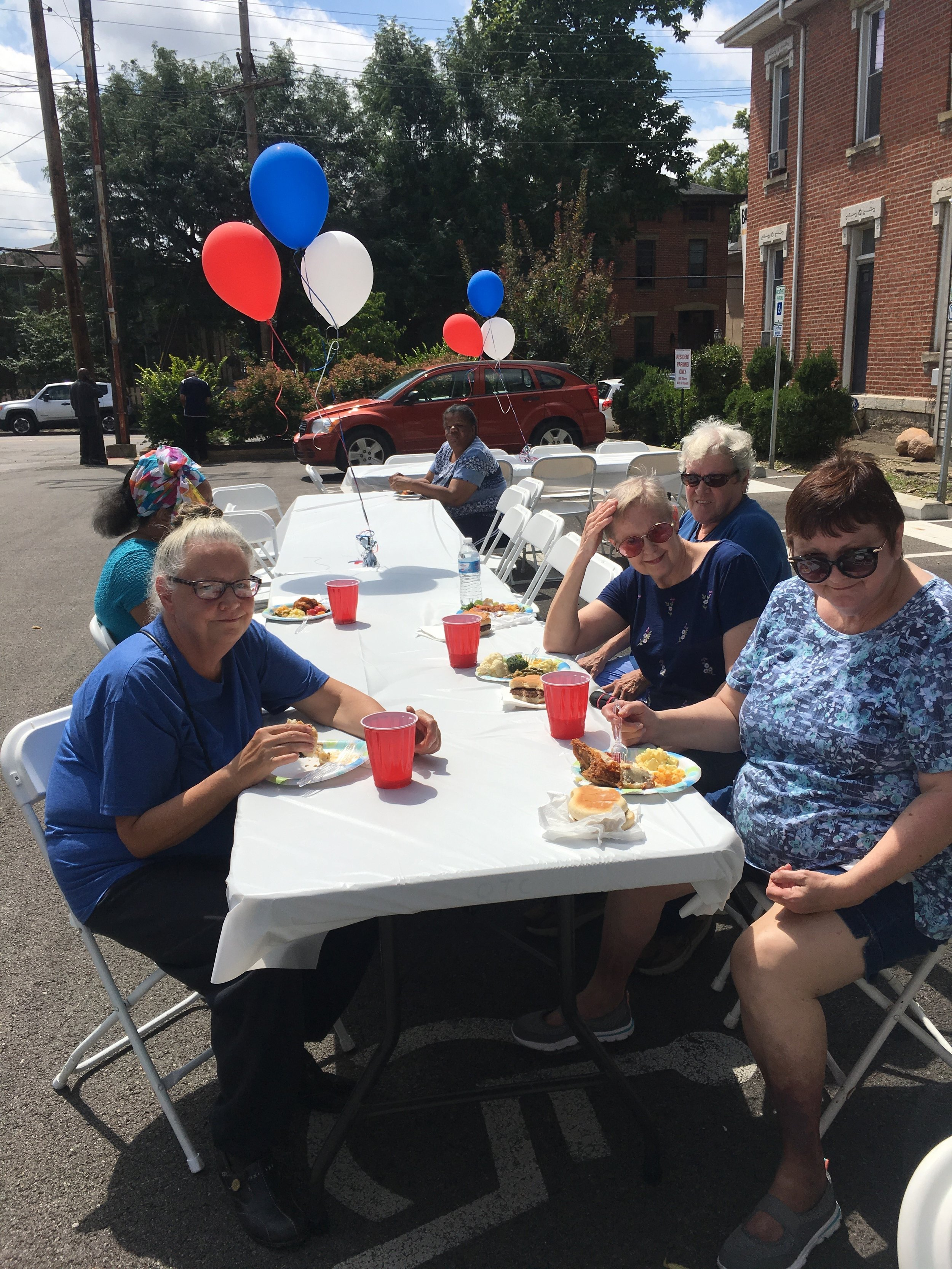 Fifteen residents of Homeport's Victorian Heritage senior community on North High Street in the University District got an early jump on Labor Day, coming together on Aug. 30 for a picnic style event. The residents ate amazing food, much prepared/donated by Property Manager Natasha Roserie. They also shared sunshine and games of BINGO.