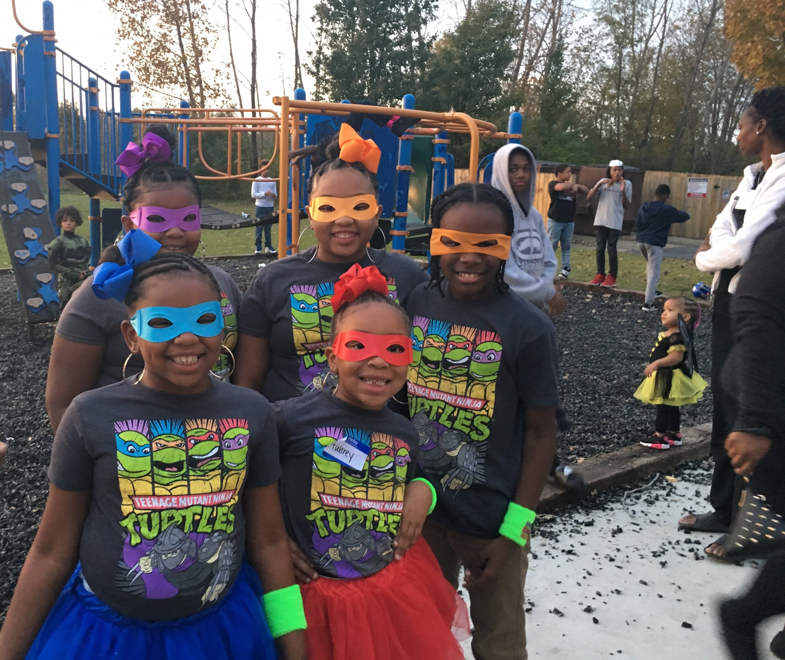 """Ninja Turtles"" from Georges Creek participated in the 'Fall Harvest' party."